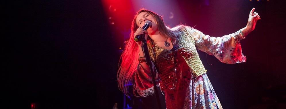 Kelly McIntyre as Janis Joplin. Photo by Randy Johnson