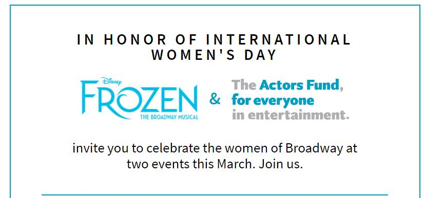 Here's to women of the theatre!