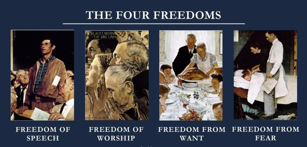 Rockwell, Roosevelt, and the Four Freedoms
