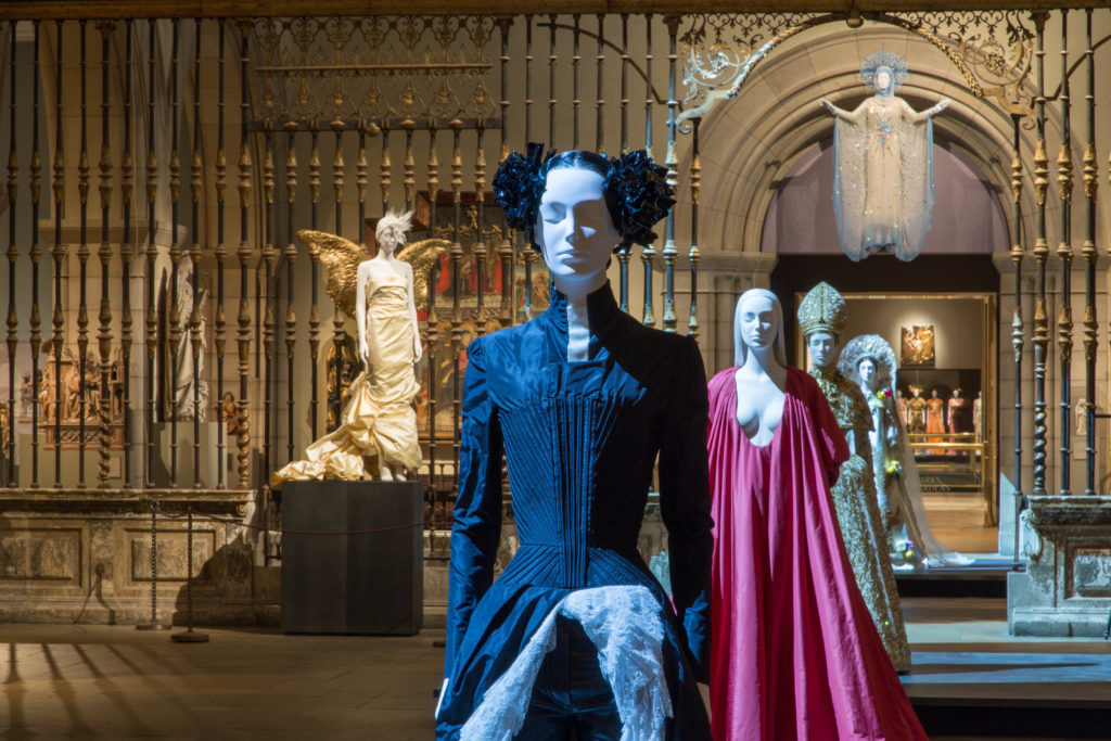 "Met Costume Exhibit,""Heavenly Bodies Fashion and the Catholoic Imagination"""