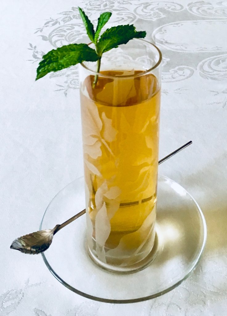Ginger Mint and Honey Lavender Iced Teas
