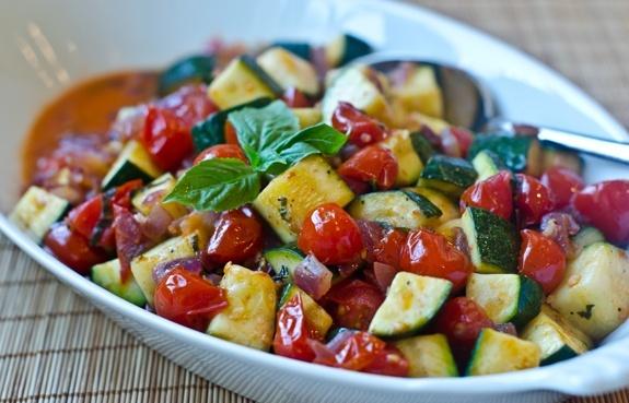 Heirloom Tomato and Zuccini Salad