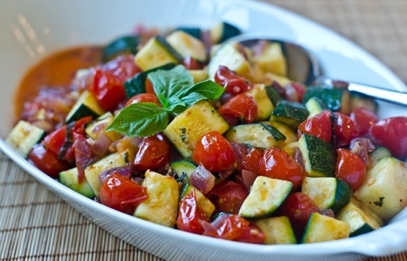 Heirloom Tomato and Zuccini Salad
