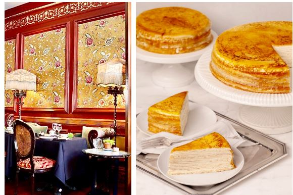 The tea room and the tea cakes
