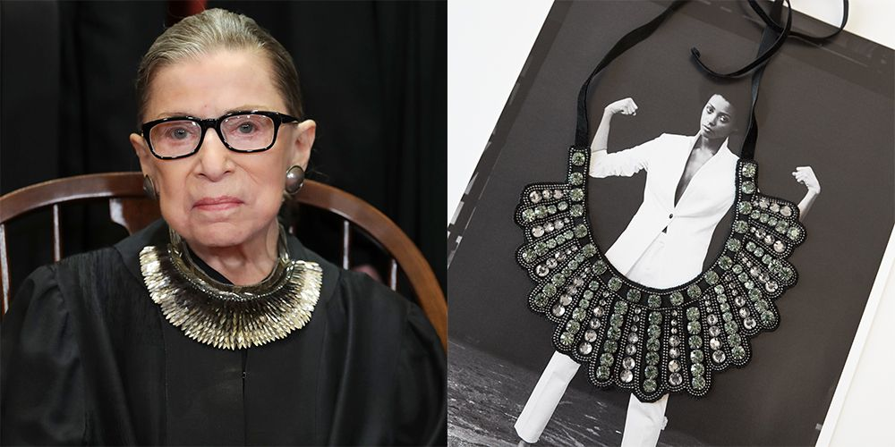 The Ruth Ginsberg Dissent Collar at Banana Republic