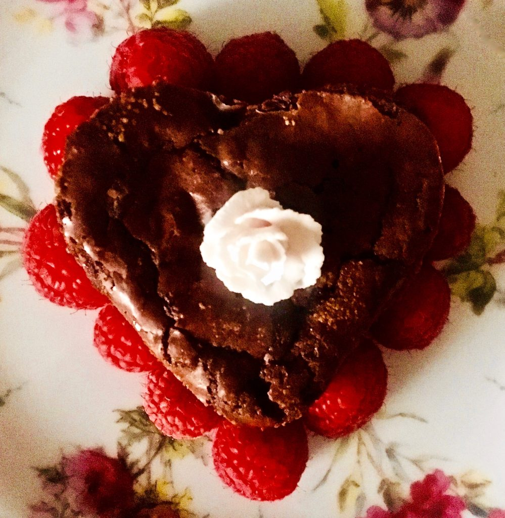 dark chocolate chip browning cake