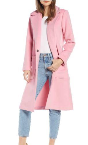 pink coat amazon