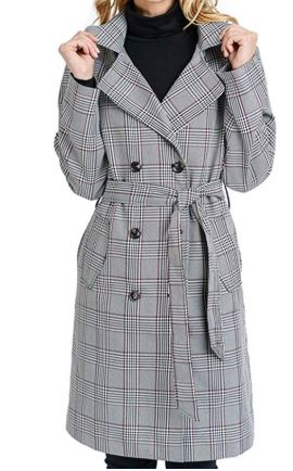 Plaid trench coat from Amazon