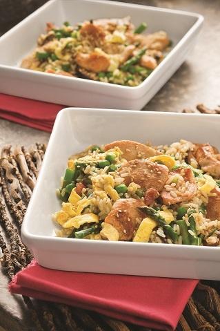 Stir-Fried Chicken & Rice with Spring Veggies