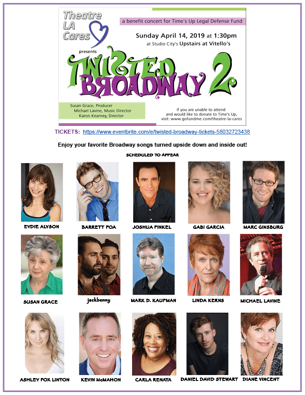 April 14.  Twisted Broadway 2