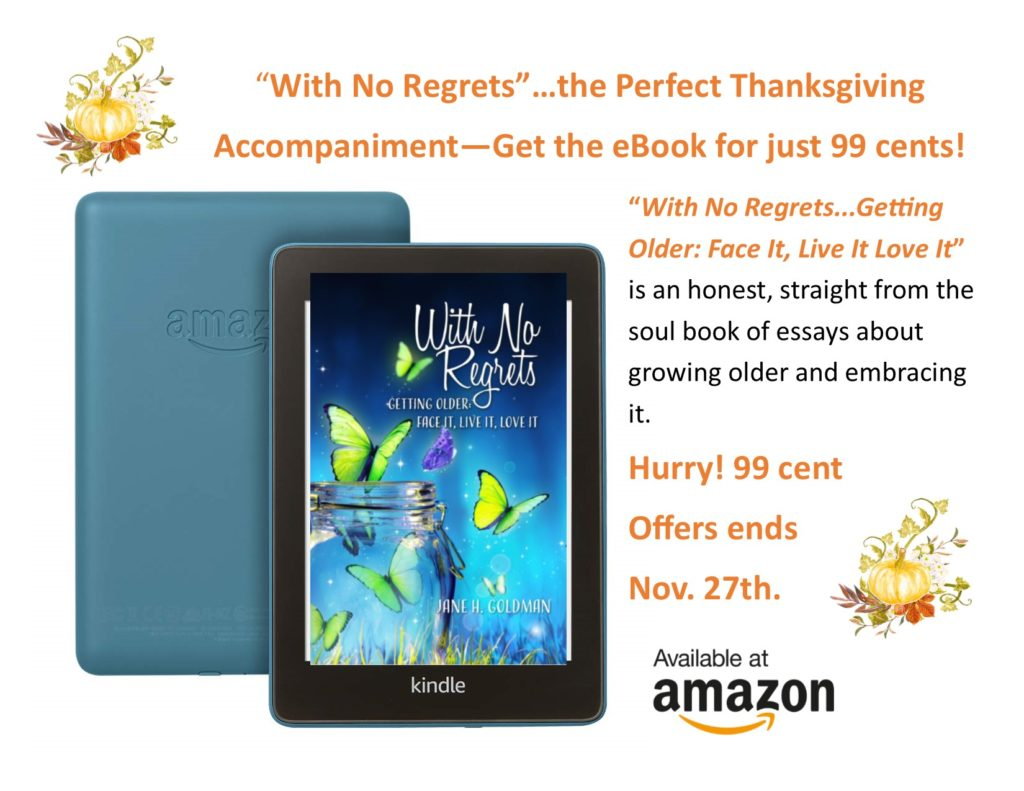 With No Regrets published by The Three Tomatoes Publishing