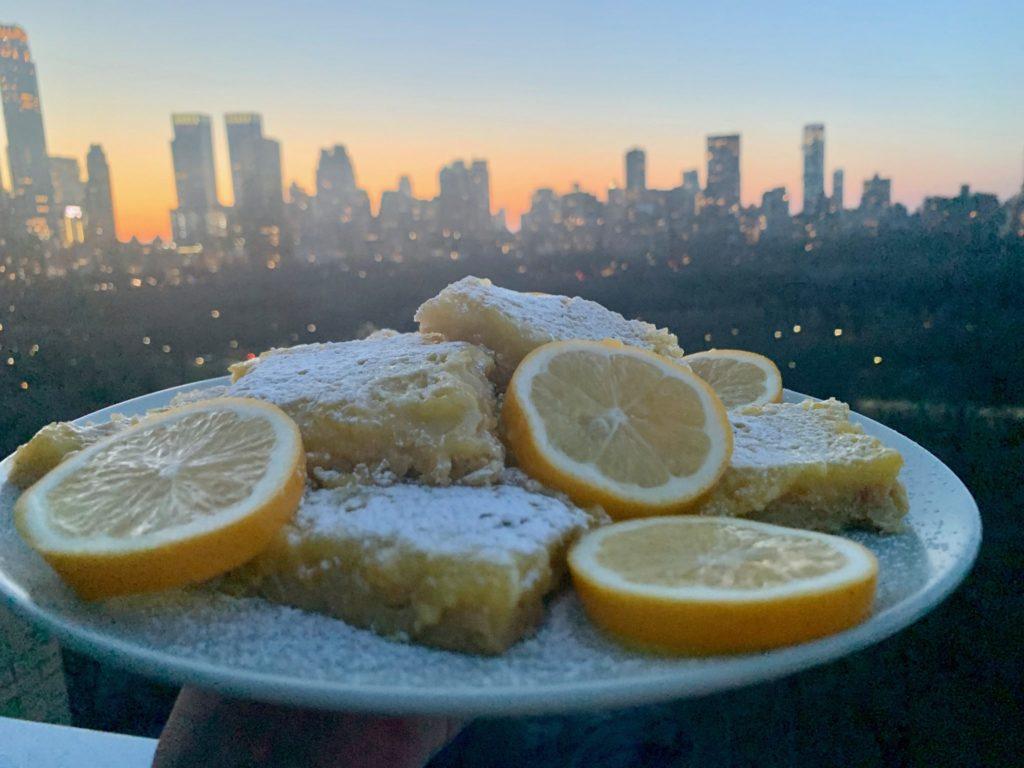 Meyer Lemon and Ginger Bars