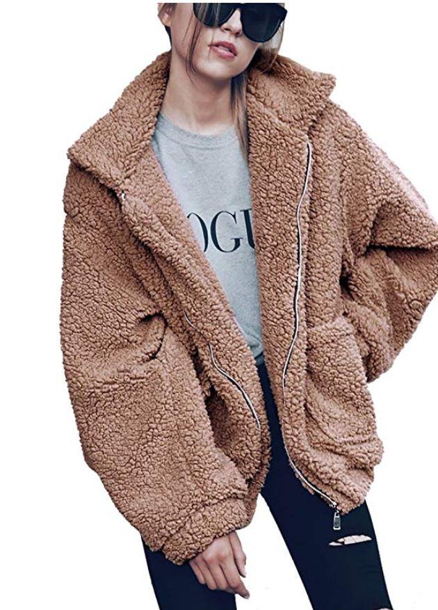 Cozy and Warm: Puffers, Teddy Bears, Faux Fur Coats