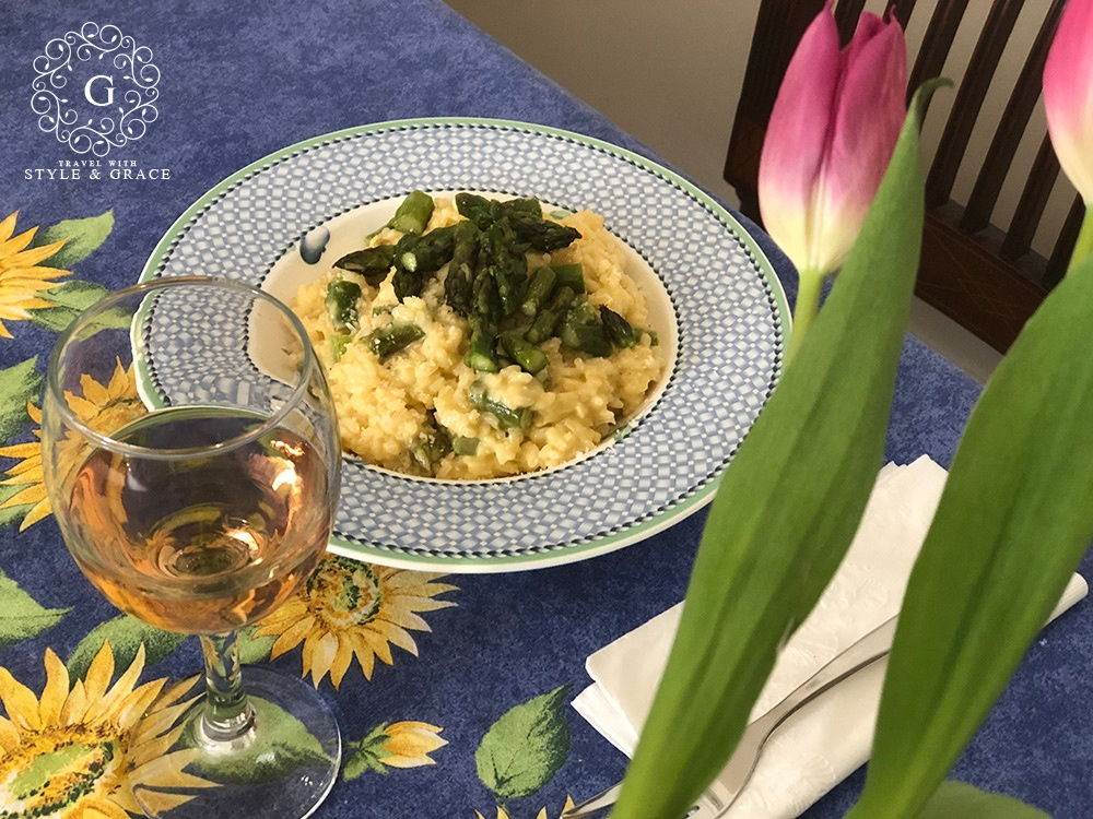 Asparagus Risotto, Baked Pears, One Pan Chicken Meal