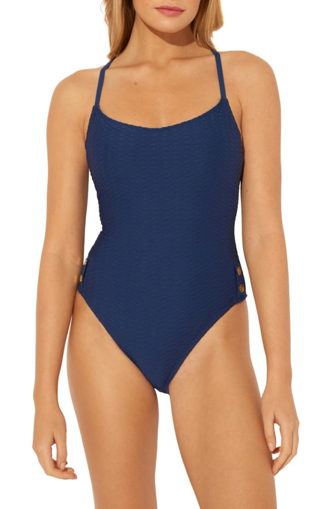 BLEU BY ROD BEATTIE Floating Underwire One-Piece Swimsuit, Main, color, NAVY