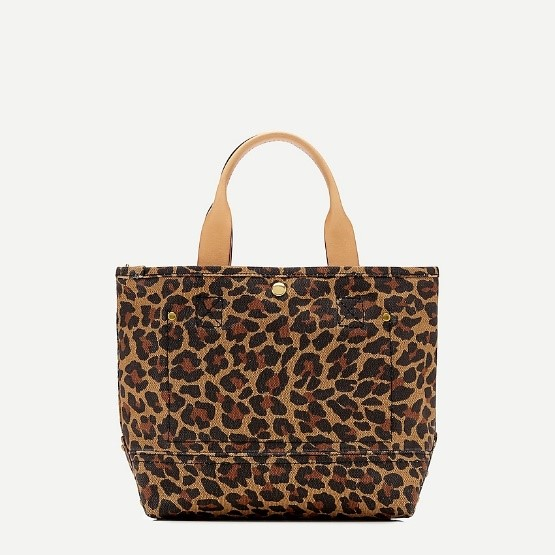 j.crew: printed montauk tote in small for women, right side, view zoomed