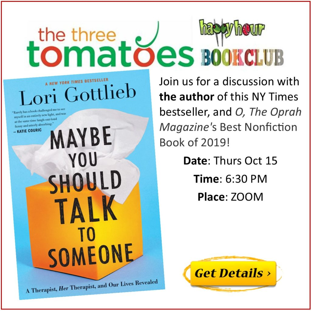 The Three Tomatoes Happy Hour Book Club