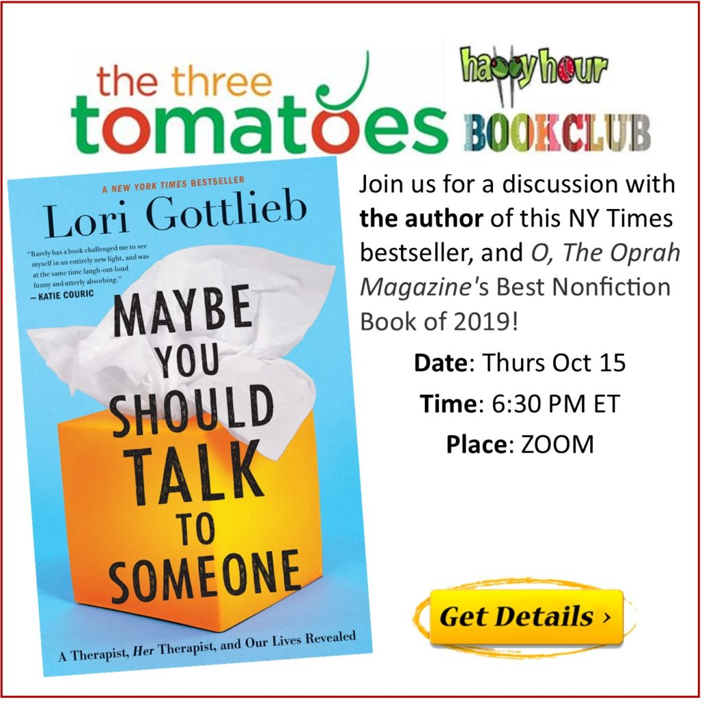 The Three Tomatoes Happy Hour Bookclub