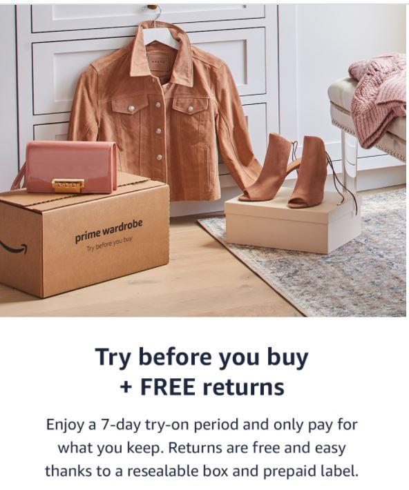 Amazon Prime Wardrobe & Personal Shoppers