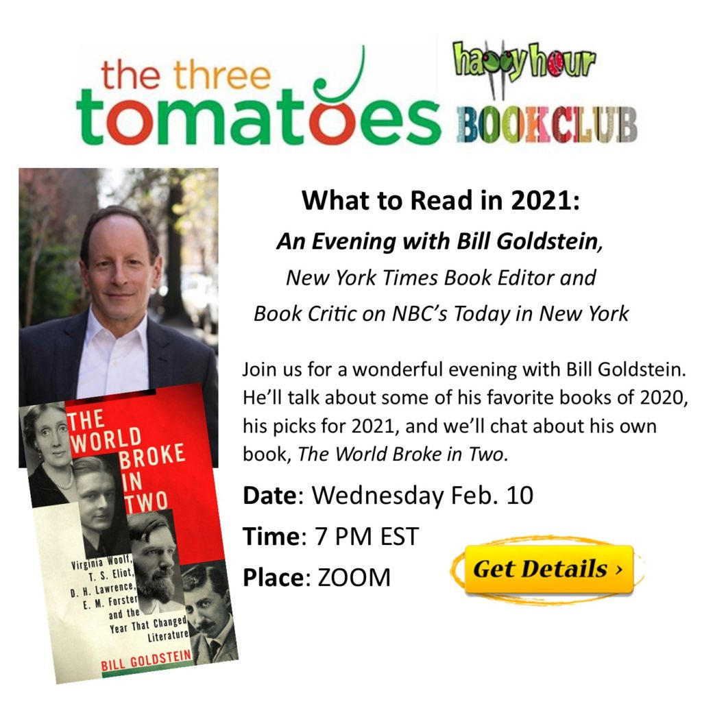 Feb. Book Club: What to Read in 2021: An Evening with Bill Goldstein