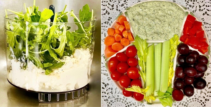 Arugula~Watercress Herb Dip