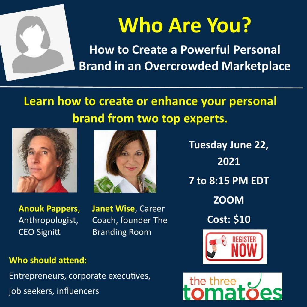 The Three Tomatoes Personal Branding Event