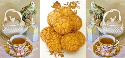 Almond – Peach Sugar Cookies
